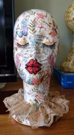 Shabby Chic head - female